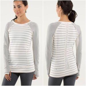 <Lululemon> Full Stilt Long Sleeve Striped Top